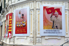 Posteres de Ho Chi Minh fotografia de stock