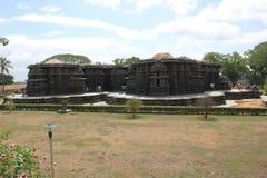 Posterior widok Hoysaleswara świątynia obrazy stock