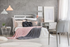 Posters in bedroom royalty free stock images