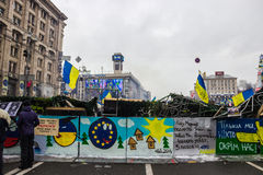 Posters on Maidan in Kiev Royalty Free Stock Photos