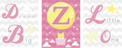Dream big baby decor initial z Stock Photo