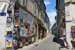 Posters on the street, Avignon Theater Festival Royalty Free Stock Images