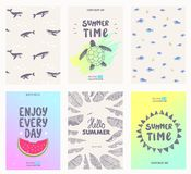 Posters summer Royalty Free Stock Images