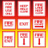 Posters on the topic, the fire. Text posters on fire safety, without images. Vector illustration Royalty Free Stock Image