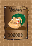 Posters of a wanted bandit Royalty Free Stock Photography