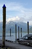 Postes alrededor del embarcadero del puerto deportivo de los resortes calientes de Harrison Imágenes de archivo libres de regalías