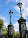 Postes cuadrados de la lámpara de Jackson Foto de archivo libre de regalías
