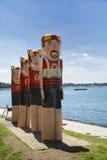 Postes de amarração em Gellong, Austrália Fotografia de Stock