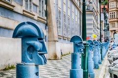 Postes de amarração no namesti de Malostranske em Praga Foto de Stock Royalty Free
