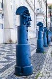 Postes de amarração no namesti de Malostranske em Praga Fotos de Stock