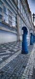 Postes de amarração no namesti de Malostranske em Praga Fotografia de Stock