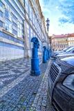 Postes de amarração no namesti de Malostranske em Praga Foto de Stock