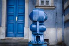 Postes de amarração no namesti de Malostranske em Praga Fotografia de Stock Royalty Free