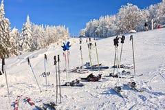 Postes de esquí Fotografía de archivo