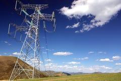 Postes de la electricidad imagen de archivo