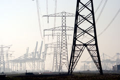 Postes de la electricidad foto de archivo libre de regalías