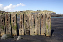 Postes de madera fotografía de archivo