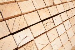 Postes de madera frescos Fotografía de archivo libre de regalías