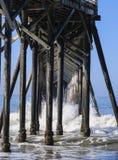Postes de San Simeon Pier Foto de archivo libre de regalías
