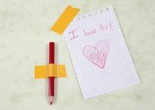 Postes del amor Foto de archivo libre de regalías