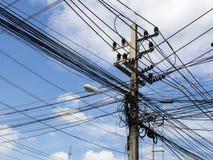 Postes eléctricos Foto de archivo libre de regalías