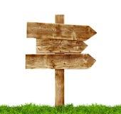 Postes indicadores de madera Foto de archivo libre de regalías