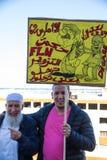 Postesters con caricatura in arabo fotografia stock