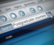 Postgraduate concept. Stock Photo