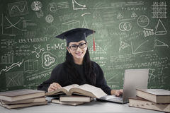 Postgraduate studying in class 1 Royalty Free Stock Photo