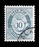 Posthoorn, serie, circa 1950 Royalty-vrije Stock Fotografie