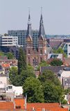 Posthoornkerk church built in 1863. City view from the bell tower of the church Westerkerk, Holland, Netherlands stock images