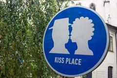 Posti del puntatore per gli amanti ed i baci Immagini Stock