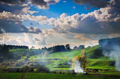 Posti di paradiso in Nuova Zelanda Fotografie Stock Libere da Diritti
