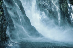 Posti di paradiso in Nuova Zelanda/lago Teanua/Milford Sound Immagine Stock Libera da Diritti