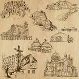 Posti e no. famosi 25 delle costruzioni Immagini Stock