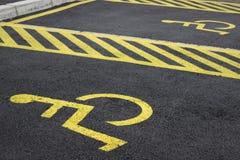 Posti-macchina disabili 2 immagine stock