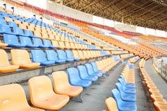Sedili allo stadio di sport Immagine Stock Libera da Diritti