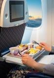 Posti vuoti in un aeroplano moderno fotografia stock libera da diritti