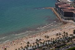 Postiguet Beach in Alicante Royalty Free Stock Photography