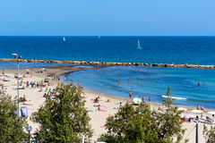 Postiguet Beach of Alicante city. Spain Royalty Free Stock Photo
