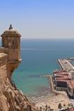 postiguet santa замока пляжа Барвары Стоковое Фото