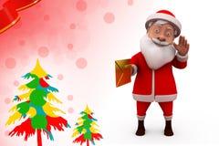 postillustration för 3d Santa Claus Royaltyfria Bilder