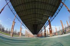 Postindustrieller Park Dora, Turin, Italien stockbild