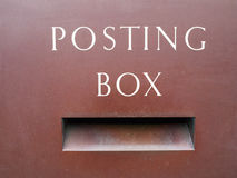Posting box. Close up of a old traditional British posting box Royalty Free Stock Images