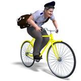Postino su una bici royalty illustrazione gratis