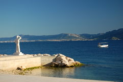 Postira on island of Brac, Croatia Stock Image