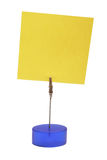 Postit. Yellow postit in a holder Stock Photo