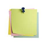 Postit background. Fine image 3d of classic postit isolated on white Royalty Free Stock Photos