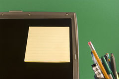 postit on computer Stock Image