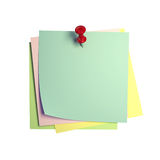 Postit image 3d. Fine image 3d of isolated postit on white background Stock Photography